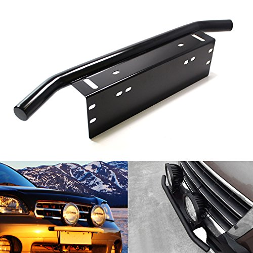iJDMTOY® Bull Bar Style Front Bumper License Plate Mount ...